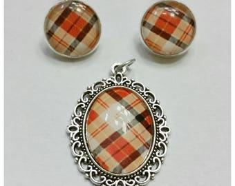 Set earrings and pendant madras