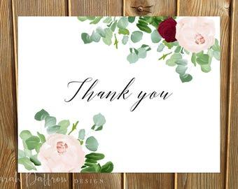 Isabella Blush Thank You Card -- Printed
