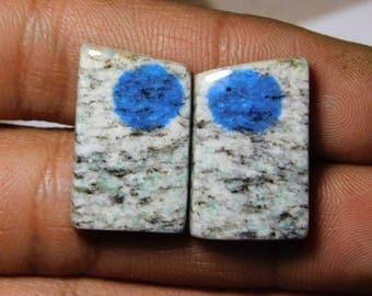 Pair! Top quality k2 jasper gemstone Excellent cabochons handmade loose gemstone beautiful smooth polish 100% natural 36.15cts, (22x14x4)mm