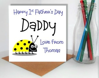 PERSONALISED First Father's Day Card / 1st Father's Day / Daddy / Special Card / Dad / Unique / Original