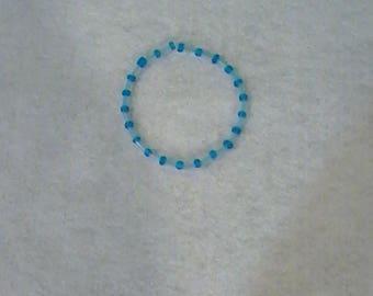 Blue and Red Patterned Bracelets