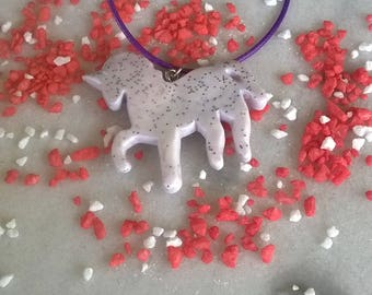 Magic Unicorn Neclace/Polymer Clay