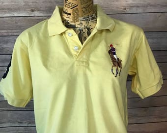 Ralph Lauren Polo Large Logo Custom Fit Polo Shirt (M)