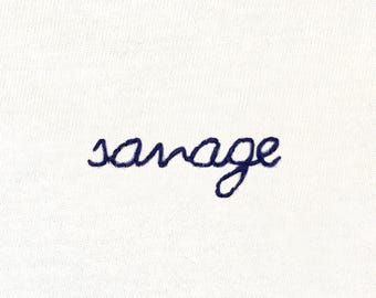 Savage embroidered t-shirt
