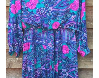 Jessica Howard Vintage floral dress late 80s early 90s size 16