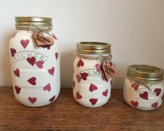 Hearts Kilner Jars