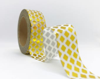 Gold Quatrefoil Washi Tape