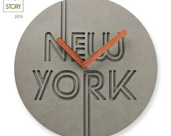World city noiseless wall clock