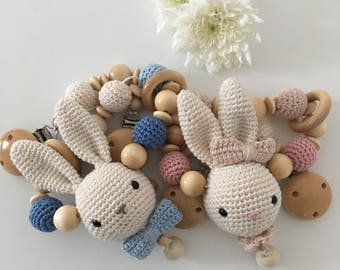 Stroller chain crochet amigurumi hasa