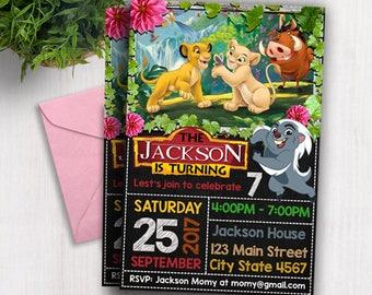 Lion Guard Invitation, Lion Guard Invite, Printable Lion Guard Invite, Lion Guard Birthday Invitation