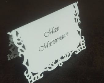Wedding stand of Platzzuweiser place card table card name tag name card