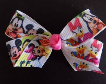 Mickey and the Gang!  Character hair bow, Girls hair bow, Mickey Mouse, Minnie Mouse, Donald Duck, Daisy, Goofy, Pluto, Disney