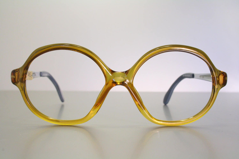 22a2d3b137 Unworn 70 s MARWITZ 3033 German Honey Orange Amber Vintage Oversize  Butterfly Eyeglass Frames NOS Old Stock