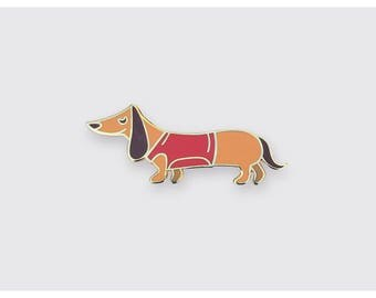 The Little Dachshund - Enamel Pin