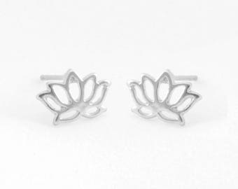 "Flower earrings ""Lotus"" silver"