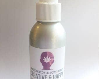 Meditation And Body Spray Mist. Terpene Terpenes. Smoke And Odor Eliminate. Mood Enhancing Scent Spray