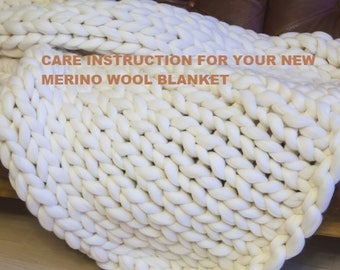 Washing and Care Instructions for Your New Merino Wool Blanket