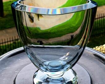 Swedish/Scandinavian-Art Glass Vase- Strombergshyttan Vase-1950's-Light Bluish –Near Perfect