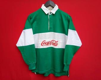 vintage Coca Cola Rugby medium size