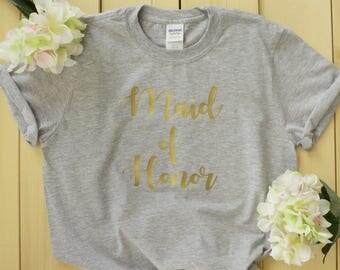 Maid of Honor Shirts, Bride Shirts, Bridal Shirts, Bridesmaid Shirts,Bridal Party Shirts, Bridesmaid Shirts, Bachelorette Party Shirts