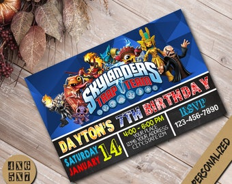 Skylanders Invitation / Skylanders Birthday Invitation / Skylanders Party / Skylanders Invites / Skylanders Birthday / Skylanders