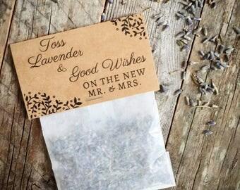 Lavender Toss Wedding Easy Tear Glassine Envelopes Exit Toss