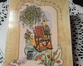 Friend Stamp, Time Changes Many Things Stamps Happen Stamps, Rubber Stamps # 90063Rocking Chair/Garden