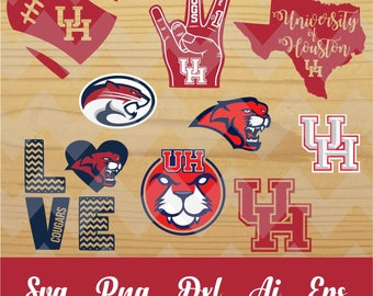 UH cougars svg,houston university,team,logo,svg,PNG,eps,dxf,cricut,silhouette,collegiate,ncaa,jersey,proud,mom,love,shirt,tigers,longhorns