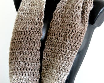 Double wrap soft shawl, Infinity handknit scarf