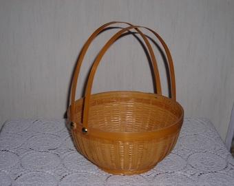Round Handled Woven Basket