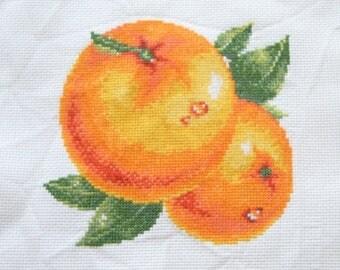"Box ""Oranges"" point cross"