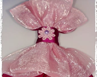"""Hair Bows Alligator Clip 2"""", Unique Design, Satin and Sheer, 100% Handmade, 7 Different colors aval., 3 3/4""""x3"""" aprox."""