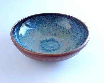 Small Shallow Stoneware Bowl