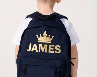 Personalised Childrens King Backpack Navy