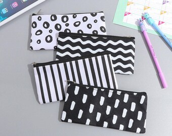Pen Case - Black & White - Pencil Case