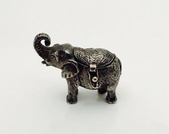 Vintage Miniature Elephant Trinket Box.