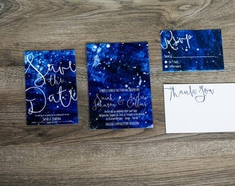 Night Sky Wedding Stationary Set