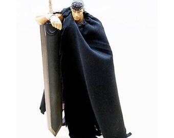 MY-C-BK-BK: FIGLot Cape for Figma Berserk Guts Black Swordman (No Figure)
