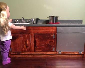 """18"""" Doll Kitchen Sink & Dishwasher"""