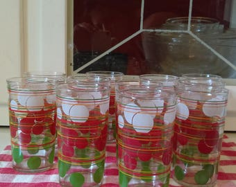 Vintage Pok-A-Dot Juice Glasses(11)