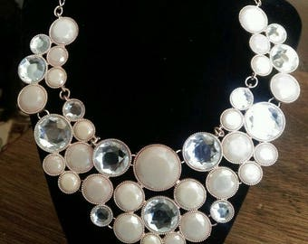 INC International Concepts Gold-Tone Colored Stone Bubble Statement Necklace