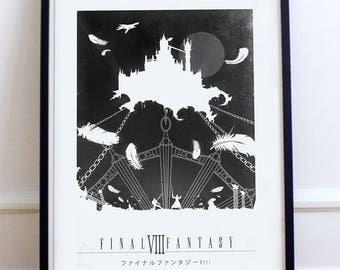 Final Fantasy 8 poster FF8 Fanart Illustration, digital print Poster
