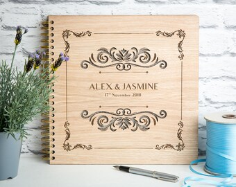 Wedding Guest Book, Wedding Tree Book, Wedding Album, Wooden Wedding Gift, Personalised Wedding,  Wood Guest Book, Wooden Album