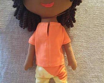 Rag doll, handmade doll, custom cloth doll, personalized doll, handmade doll, rag doll individual