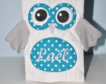 Cover of health OWL custom embroidered name