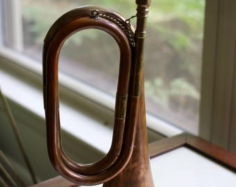 1940's Copper and Brass Military Bugle