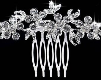 Rhinestone, Crystal, CZ hair piece, wedding bridal costume