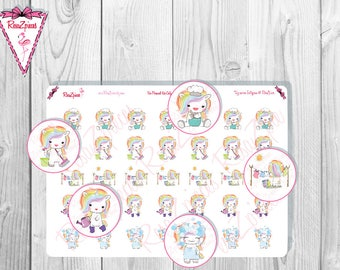Pixie Unicorn Stickers - Things To Do