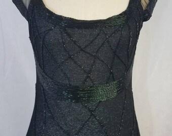 Bob Mackie Vintage Black Beaded Gown