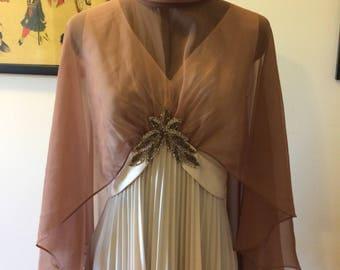 Vintage dress with cape